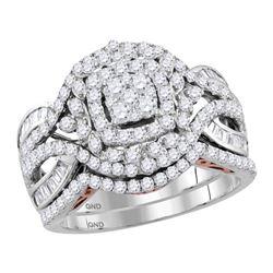 1.48 CTW Diamond Bridal Wedding Engagement Ring 14kt Two-tone Gold