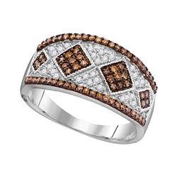 0.50 CTW Brown Diamond Fashion Ring 10kt White Gold