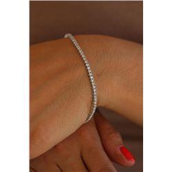 Natural 2.0 ctw Diamond Eternity Tennis Bracelet 18K White Gold