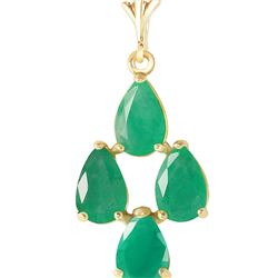Genuine 1.50 ctw Emerald Necklace 14KT Yellow Gold
