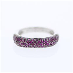 1.05 CTW Ruby Ring 14K White Gold