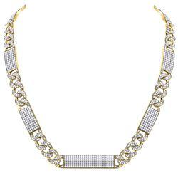 "24.53 CTW Diamond Cuban Link 24"" Necklace 10kt Yellow Gold"