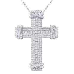 4.18 CTW Diamond Necklace 18K White Gold