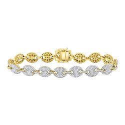 5.65 CTW Diamond Gucci Link Fashion Bracelet 10kt Yellow Gold