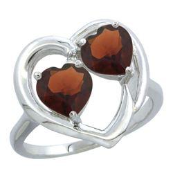 2.60 CTW Garnet Ring 10K White Gold