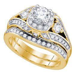 1.48 CTW Diamond Bridal Wedding Engagement Ring 14kt Yellow Gold