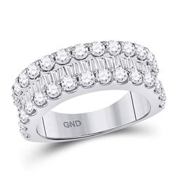 2.64 CTW Diamond Anniversary Ring 14kt White Gold