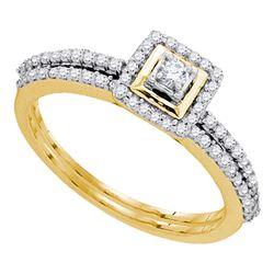 0.33 CTW Diamond Slender Bridal Wedding Engagement Ring 10kt Yellow Gold