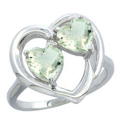 2.60 CTW Amethyst Ring 10K White Gold
