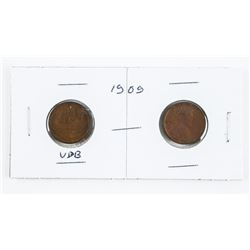 Lot (2) USA Lincoln Cents: VDB and Non VDB First Y