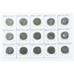 Group of (15) 2 Mark Coins, Mixed (MOE)