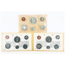 Lot (3) RCM PL Sets: 1961 Silver, 1968 and 1969
