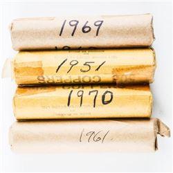 Estate Lot (4) Rolls Canada Cents: 1951, 1969, 197