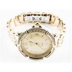 Gold Tone Unisex Watch Panther Style Bracelet with