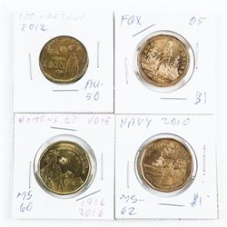 Group of (4) Special Issue Canada 1.00 Coins Fox,