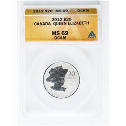 Canada 2012 - 20.00 Coin 'Queen Elizabeth' ANACS,