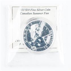2013 .9999 Fine Silver $10.00 Summer Fun Coin
