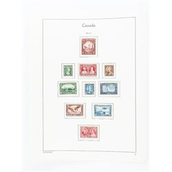 Canada 1934/1938 Stamp Page - 10 Stamps (ER)
