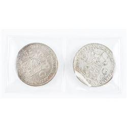 Lot (2) Nederlands Crowns 1939 and 1940 2 1/2 G