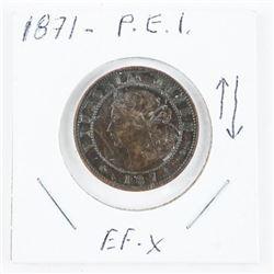 1871 P.E.I. Victoria Large Cent (EF-X) (SXR)