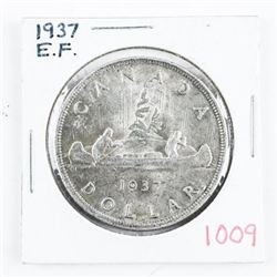 1937 Canada Silver Dollar EF (ER)