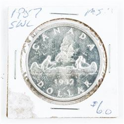 1957 Canada Silver Dollar SWL (CR)