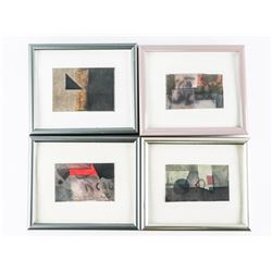 """Group of (4) Original Watercolours Frame 4x5"""" Sig"""