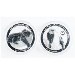 Lot (2) Collector Bullion 'KOALA' Kookaburra Coins