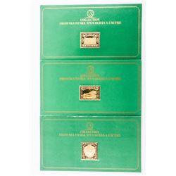 Group (3) 24kt Gold / 925 Sterling Silver Postage