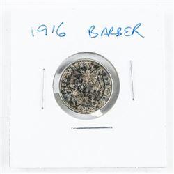 US 1916 Barber Dime EF/AU