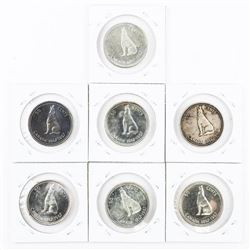 Lot (7) CAD Silver 50 Cent 1867-1967