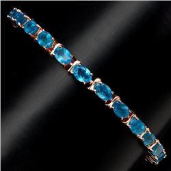 Natural Rare Brazil Neon Blue Apatite Bracelet
