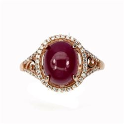 Genuine Oval Red Ruby 10x8 MM Ring