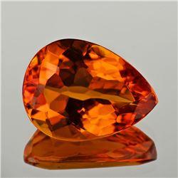 Ntaural Golden Orange Citrine 16x12 MM {Flawless-VVS1}