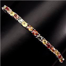 Natural Fancy Colors Sapphire 41.89 Ct Bracelet
