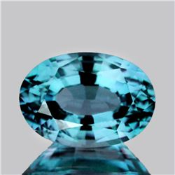 Natural Top Electric Blue Zircon 3.28 Ct{Flawless-VVS1}