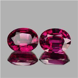 Natural Raspberry Red Pink Rhodolite Garnet Pair - FL