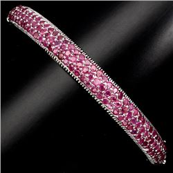 Mesmerizing Top Rich Red Pink Ruby 82.07 Ct Bangle