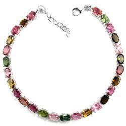 Natural Fancy Color Tourmaline Bracelet