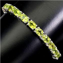 Natural Top Rich Green Peridot 83 Cts  Bracelet