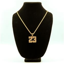 AWESOME 14 Kt. GOLD PLATED MICHAEL JORDAN PENDANT