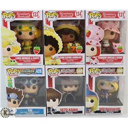 LOT OF 6 ASSORTED FUNKO POPS: ANIMATION &
