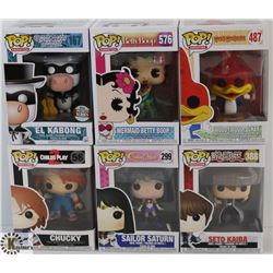 LOT OF 6 ASSORTED FUNKO POPS: MOVIE &