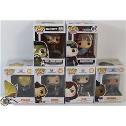 LOT OF 6 ASSORTED FUNKO POPS: GAMES VARIETY PACK.