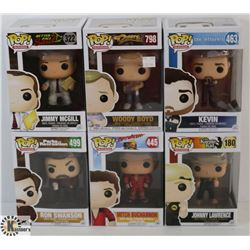 LOT OF 6 ASSORTED FUNKO POPS: TV VARIETY PACK.