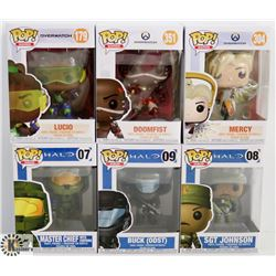 LOT OF 6 ASSORTED FUNKO POPS: HALO &