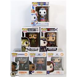 LOT OF 6 ASSORTED FUNKO POPS: GAMES VARIETY