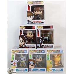 LOT OF 6 ASSORTED FUNKO POPS: ANIMATION VARIETY