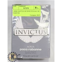 100ML BOTTLE OF INVICTUS EAU DE PARFUM