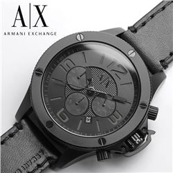NEW ARMANI EXCHANGE TRIPLE CHRONO WATCH MSRP $319